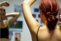 Female dance student