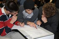 Maths students at ANU maths day 2012