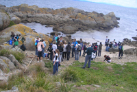 Students on excursion at Montague Island